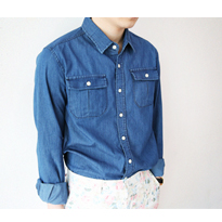 two pocket denim shirt