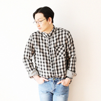 check&stripe shirt